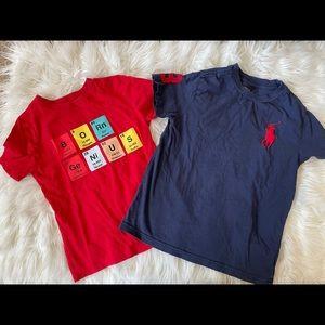 Boys gap and polo short sleeve tee size 6/7